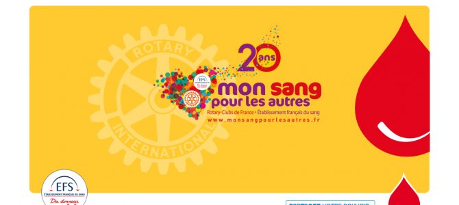 """(Français) 20ème anniversaire de la collecte """"Mon sang pour les autres"""""""