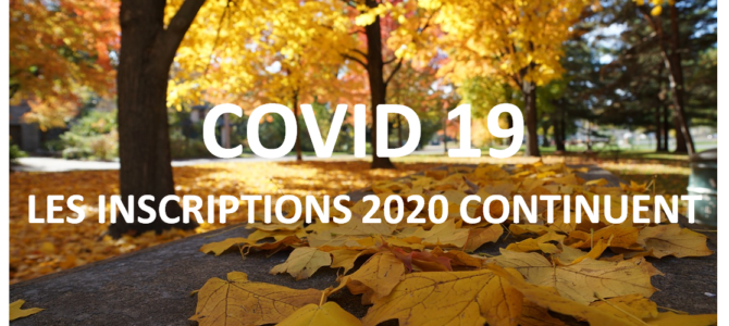 COVID 19 – Inscriptions 2020