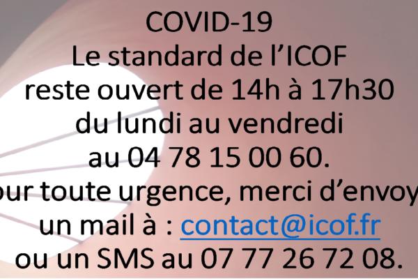 COVID 19 – Information importante